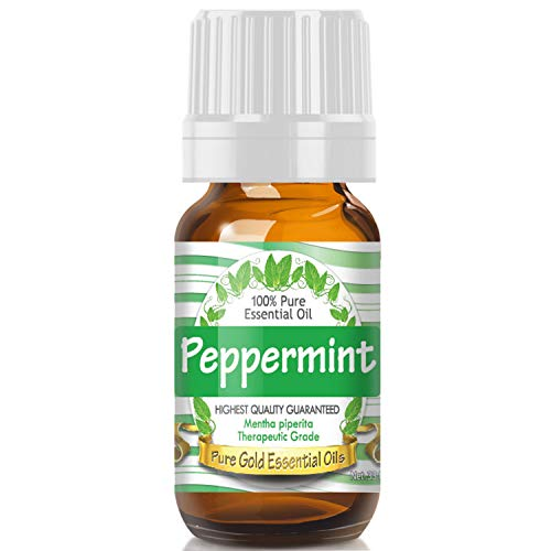 Pure Gold Peppermint Essential Oil, 100% Natural & Undiluted, 10ml