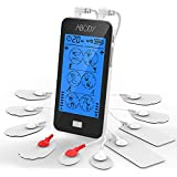 Abody TENS Unit EMS Muscle Stimulator, Rechargeable Touchscreen Electronic Pulse Massager Machine with 2 Channels 24 Modes 10 Electrodes Pads for Pain Management for Back, Neck, Arms, Legs and More