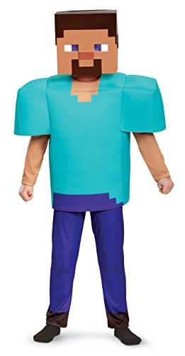 Steve Deluxe Minecraft Costume, Multicolor, Medium (Minecraft Halloween Costume Skin)