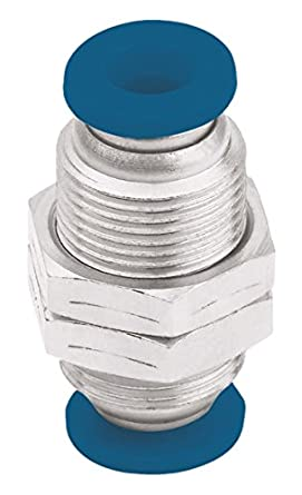 Push-to-Connect and NPT Female Pipe Connector Parker 66LF-6-4 Push-to-Connect Nickel Plated Instant Fitting 3//8 and 1//4 3//8 and 1//4 Nickel Plated Brass Tube to Pipe