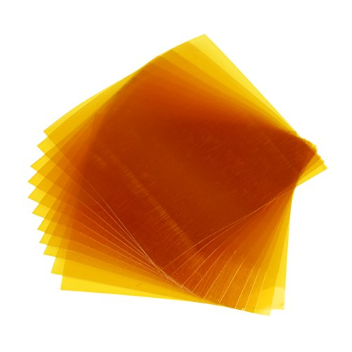Crenova 6″*6″ Kapton Tape Sheets 0.06mm (2.4mil) with Release Liner for 3D Printer (10 Pack)
