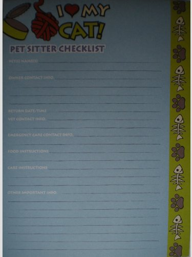 (I love My Cat Pet Sitter Magnetic To Do Checklist)