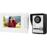 Smartlife 7 Inches Digital HD Wired Doorbell Camera Video Intercom Door Phone System Wide Angle Peephole Viewer