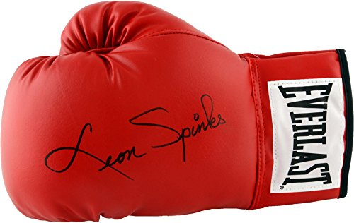 Leon Spinks Autographed Red Everlast Boxing Glove - Fanat...