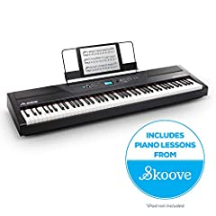 Perfect Feel, Premium Sound The Alesis Recital Pro is a full-featured digital piano with 88 full-sized hammer-action keys with adjustable touch response. The Recital Pro features 12 premium built-in realistic voices: • Acoustic Piano • Acoust...