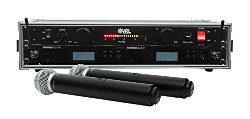 (Shure BLX24R/SM58 2 Pack Wireless Handheld Mic System with VRL Power Supply)