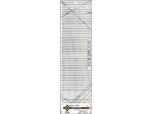 Quilter's Rule Original Ruler 6.5x24 Black 6 1/2