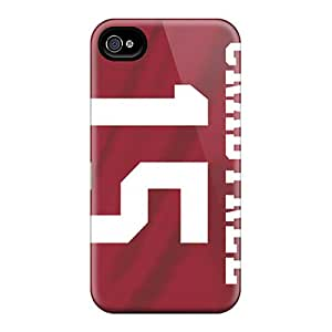 Scratch Protection Hard Phone Cover For Iphone 4/4s With Custom Lifelike San Francisco 49ers Series CassidyMunro