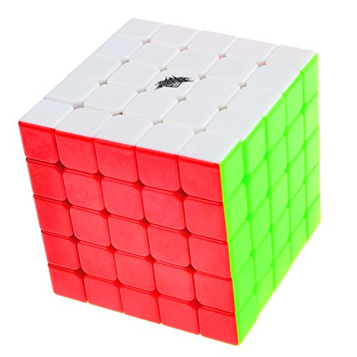 Vdealen 63.5mm Speed Cube Stickerless Magic Cube 5x5x5 Puzzles Colorful