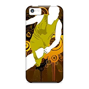 Awesome Case Cover/iphone 5c Defender Case Cover(basketball Vector Hd)