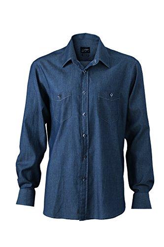 Men Dark Trend camisa denim Denim Blusa y Modern 2store24 Fit n7q80H