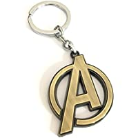 Aai Avenger A Logo Metal Keychain - Golden
