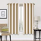 Blackout Curtains 2 Panels Set Thermal Insulated Window Treatment Solid Eyelet Darkening Curtain for Living Room Bedroom Nursery,Light Grey,46x54 Inches
