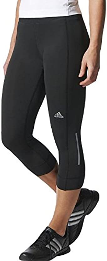 adidas Women's Laufhose 3/4 Sequencials Climalite Running Three-Quarter  Tights-Black, Small