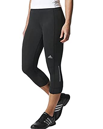 adidas Laufhose 3/4 Women's Sequencials Climalite Running Three-Quarter  Tights-Black, Small