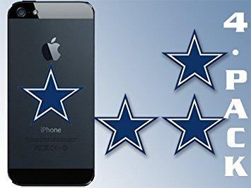 MAGNET 4-PACK Small Blue Star Magnetics (dallas cowboys colors logo big dak fan laptop) 1 x 1.5 inch (x4) ()