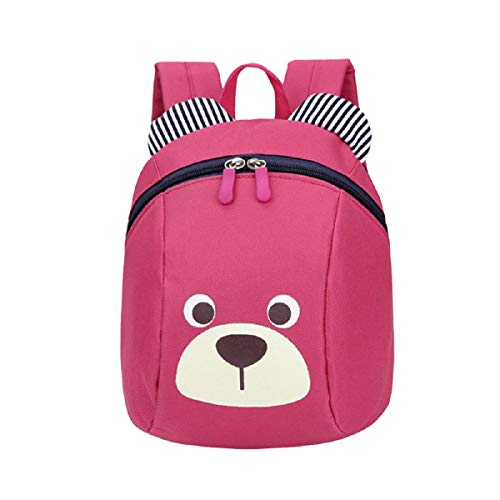(OTINICE Anti-Lost Backpacks for Baby Kids Cute Dog Breathable School Bag with Waistband Aged 1-3 Rose,red)