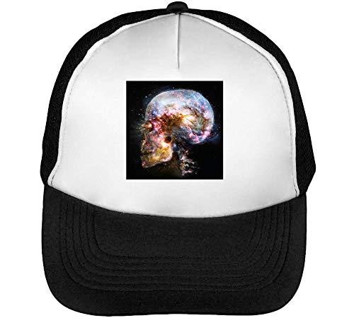 Skull Cosmos Epic Gorras Hombre Snapback Beisbol Negro Blanco