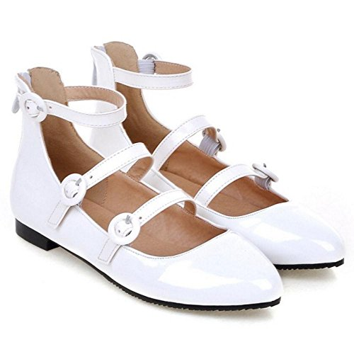 Bride Escarpins JOJONUNU Cheville White Mode Femmes Eqw7AwgF