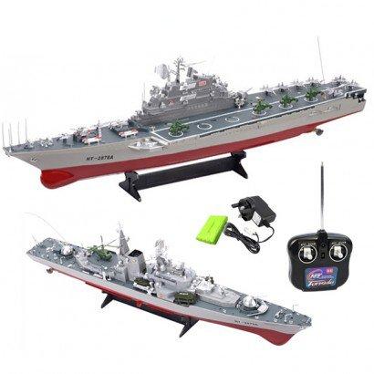 1:275 Echelle Se désintégrer Battleship Destructeur, Porte-avion, Torpedo Bateau RC Radio Télécommande Simulation Bateaux EP RTR - Porte-avion