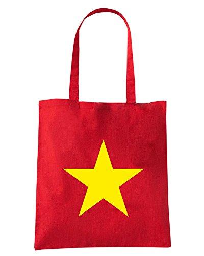 T-Shirtshock - Bolsa para la compra TM0265 Viet Nam flag Rojo