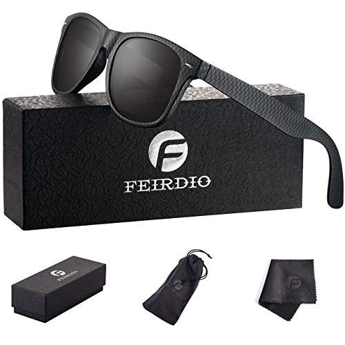 PolarizedSunglasses for Men and Women - Feirdio Classic Retro Sun Glasses Pattern Frame Mens Sunglasses 2170 (Lattice/Black Mattet, - Glass Lattice