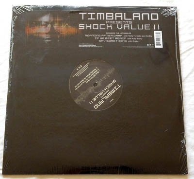 Timbaland Double LP Shock Value II - Interscope/Background Records 2009 - NEW Factory-Sealed - Justin Timberlake - SoShy - Nelly Furtado - Katy Perry