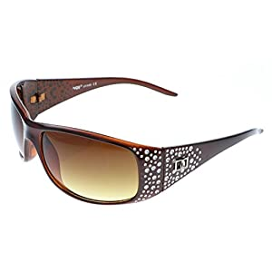 Vox Women's Sunglasses Designer Fashion Eyewear Free Microfiber Pouch (BROWN)