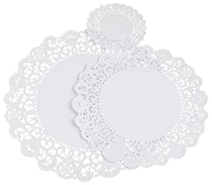 "Regency Paper Lace Doilies Combo Pack 12 each 4"", 8"" 10"""