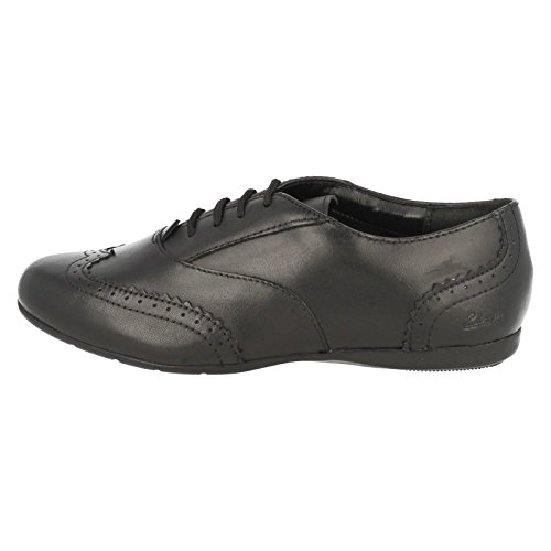 Clarks DanceHoney Schule für Mädchen Schuhe aus schwarzem Leder Black Leather 13½ H