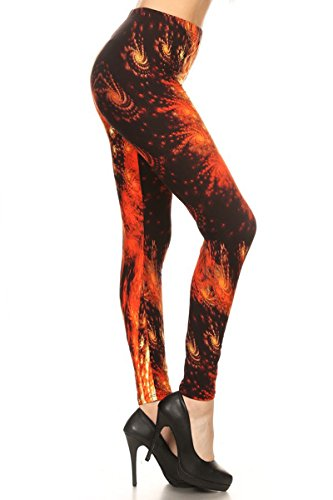 Print Leggings Play With Fire (R748-OS)