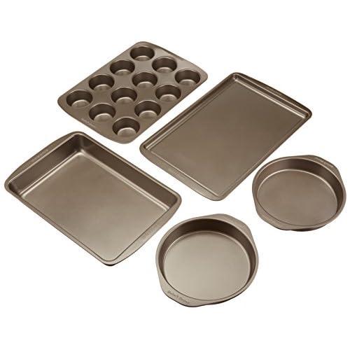 Baker's Secret 5-Piece Easy Store Bakeware Set Non Stick