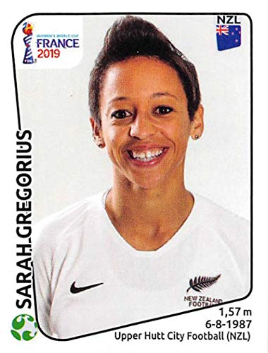 2019 Panini FIFA Women's World Cup France Album Stickers Soccer #382 Sarah Gregorius New Zealand 2 Inch by 2 1/2 Inch Collectible Sticker ()