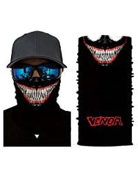 Venom Face Sun Mask Multipurpose UV for Men Women ? Worn as Head Wrap, Neck Gaiter, Headband, Face Shield, Bandana Balaclava