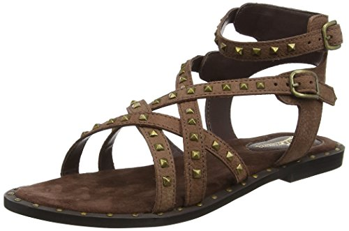 Joe Browns Lazy Days Leather Studded Sandals, Sandalias de Gladiador Para Mujer Marrón (Brown)