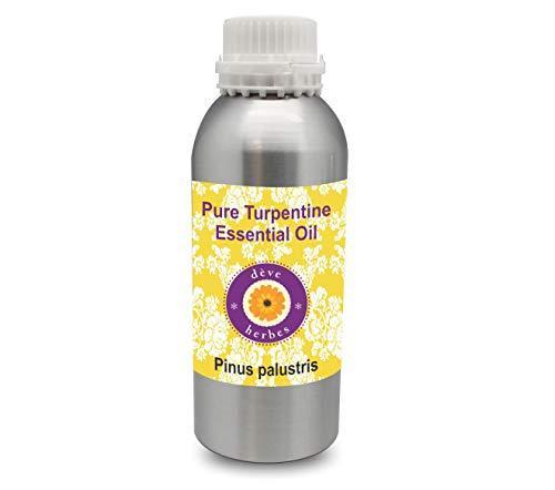 Deve Herbes Pure Turpentine Essential Oil (Pinus palustris) 100% Natural Therapeutic Grade Steam Distilled Gum Spirit of Turpentine 300ml (10.1 oz) (Pure Gum Spirits Of Turpentine For Candida)