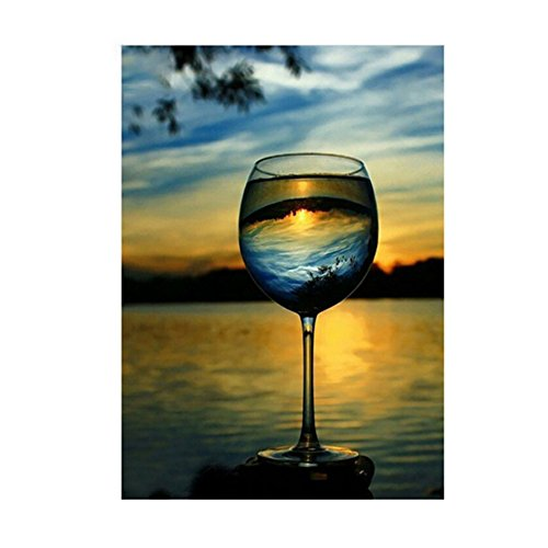 wintefei Goblet Lake and Sky Embroidery Cross Stitch 5D Diamond Painting Home DIY Crafts - 6954