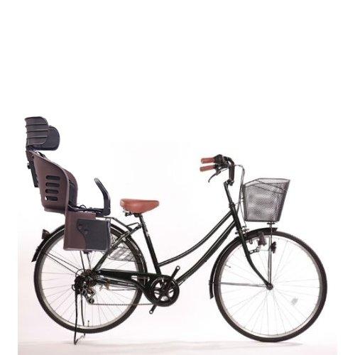 Lupinusルピナス 自転車 26インチ LP-266UD-KNRJ-BR 市販 軽快車 ※ラッピング ※ ダイナモライト 樹脂製後子乗せブラウン グリーン B073LTB753 シマノ外装6段ギア