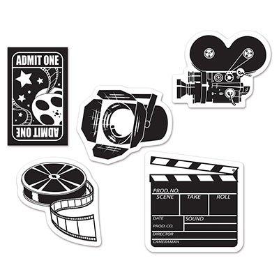 Beistle 54708 Mini Movie Set Cutouts, 4.5