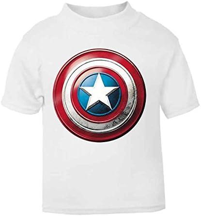 Camiseta de superhéroe para niños con escudo del Capitán América (4-5 años): Amazon.es: Bebé