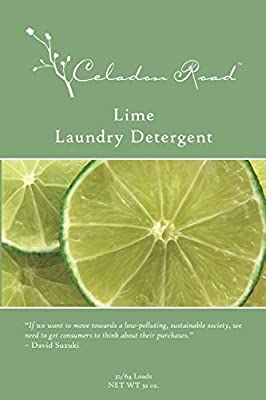 Celadon Road Lime Laundry Detergent All Natural Ingredients MADE IN USA Ultra Concentrated - Sulfate-Free and Phospate Free - 64 HE loads 32oz - The BEST choice for your Family and the Environment
