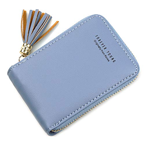 RFID Zipper Credit Card Wallet for Women Small Card Holder Change Purse Accordion Coin Purse Pocket Wallet for Women