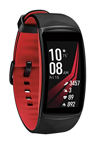 Samsung Gear Fit2 Pro Smart Fitness Band (Small), Diamond Red, SM-R365NZRNXAR