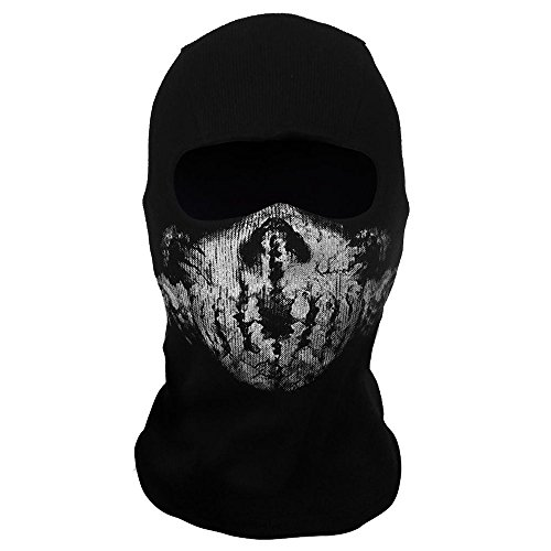 AStorePlus Skull Balaclavas Ghost Face Mask Skiiing Warmer Mask Men Beanie Hat Airsoft Paintball Tactical Game Mask Motorcycle Mask, Style (Ghost Ski Mask)