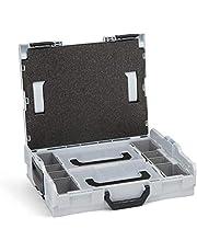 Bosch Sortimo L BOXX 102 | incl. Insetboxenset 2x L BOXX Mini | Maat 1 in lichtgrijs | Gereedschapskoffer klein leeg | Ideale gereedschapsopbergdoos