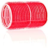 Hair Tools Cling Hair Rollers - Large Red 36 mm x 12