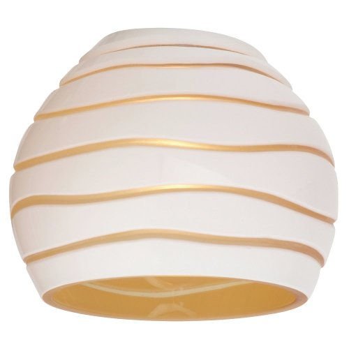 Sea Gull Lighting 94392-6135 Ambiance-3-Inch Glass Shade, Cased, White/Amber Engraved Pattern - Walter White Shades
