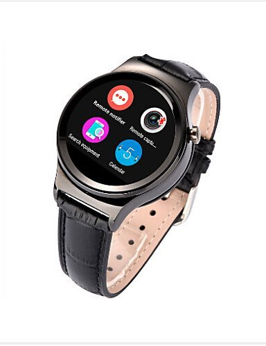 New Round Smart Watch with SIM Card Slot & Heart Rate Sensor for iOS Android Smartphone MT2502 IPS screen , gold by FMSBSC