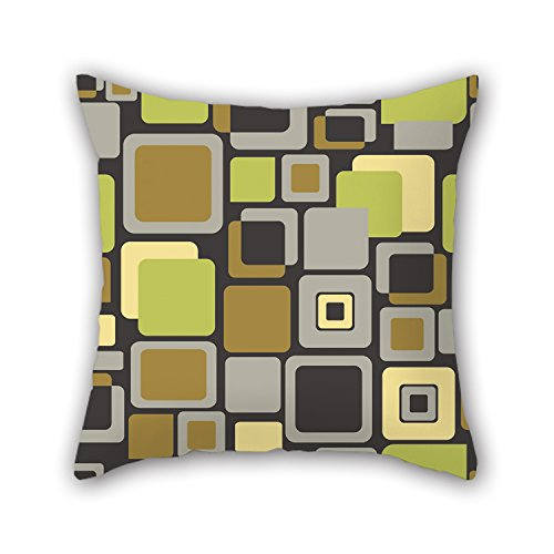 Alphadecor Pillowcover Of Colorful Geometry For Office Couch Pub Play Room Monther Teens Girls 18 X 18 Inches   45 By 45 Cm Each Side