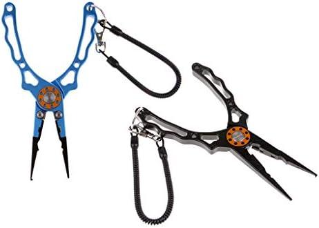 SM SunniMix 2本入り ネックストラップ付き 釣りプライヤー ラインカッター スプリットリング 釣りツール